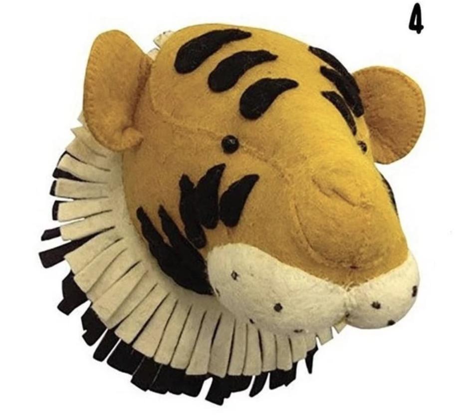 tiger felt head