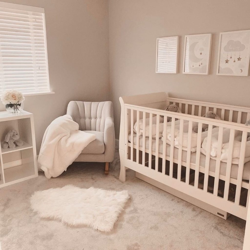 Baby girl nursery photo