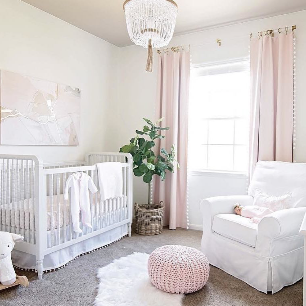 cozy nursery for girls