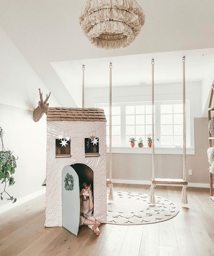 kids cardboard house diy