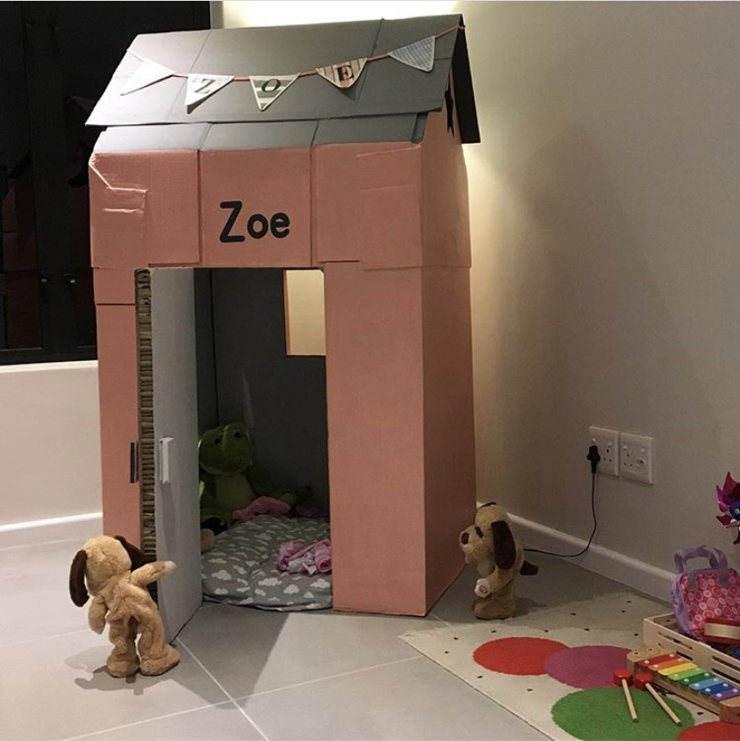 kids cardboard playhouse ideas