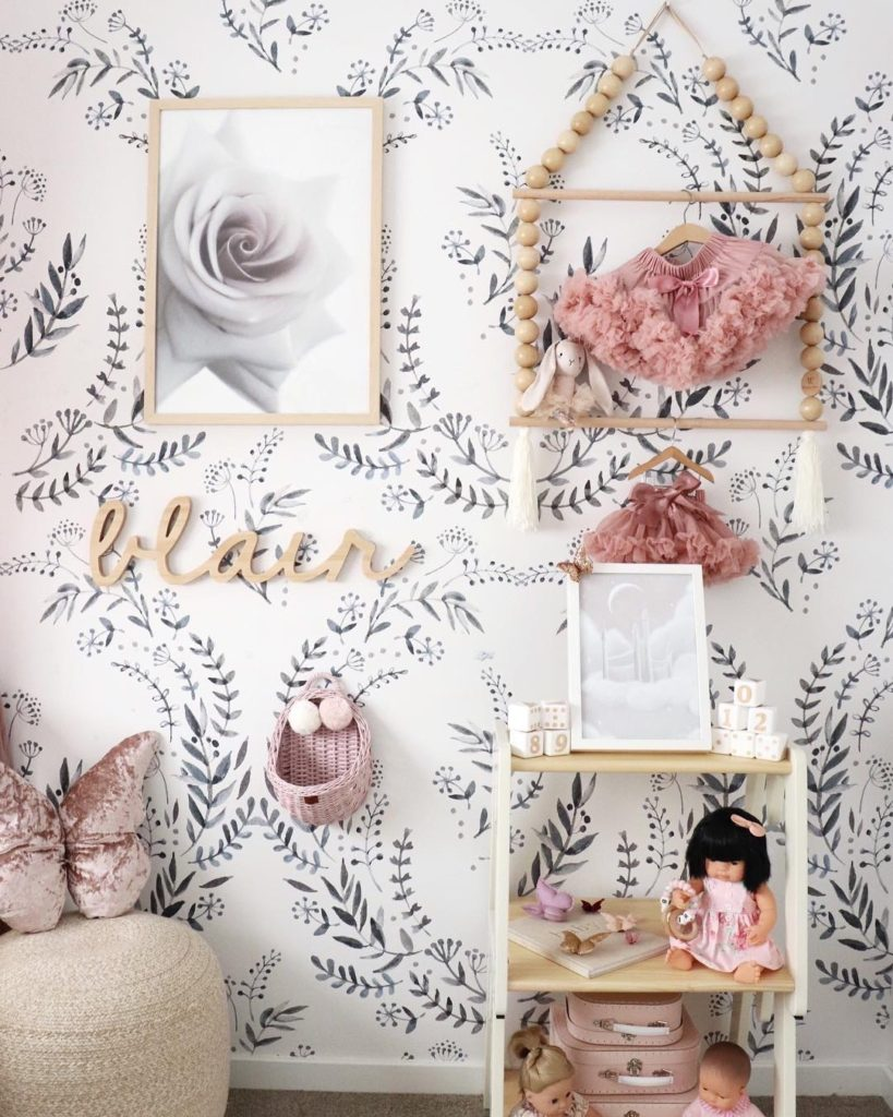 baby girl nursery wall decor