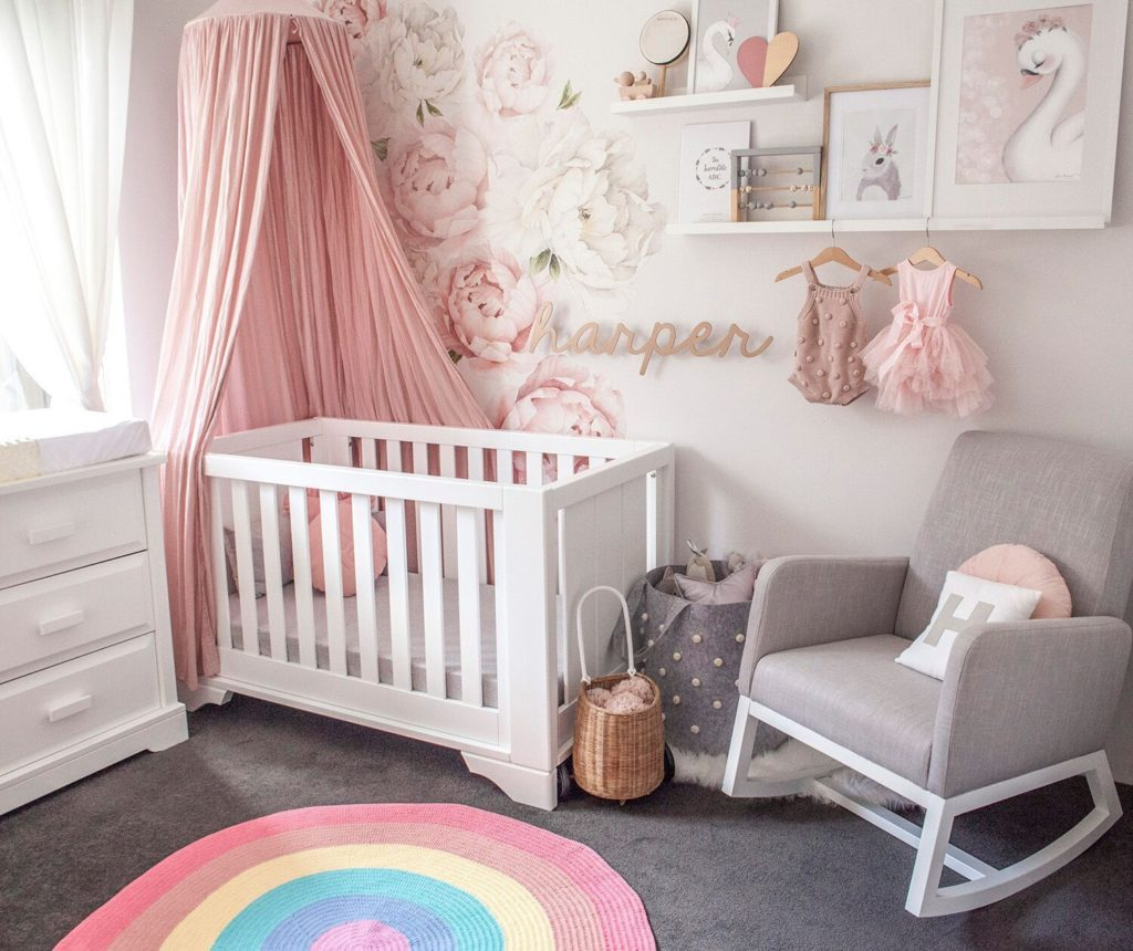 cozy baby girl nursery