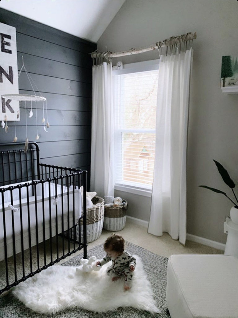 coastal farmhouse nursery decor